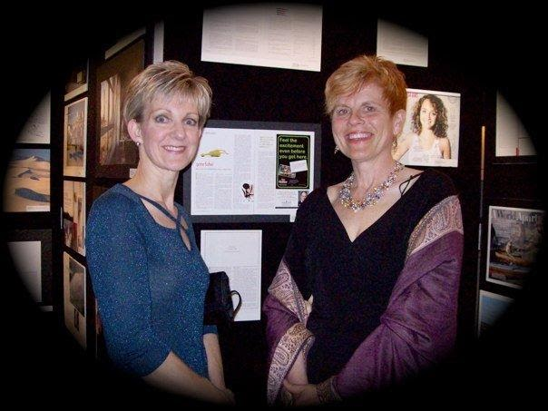 National Magazine Awards when I was nominated for Humour Award. Twice 2010-11—seen with then Editor of Kingsoton Life, Tracy Weaver